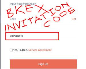 Bkex invitation code